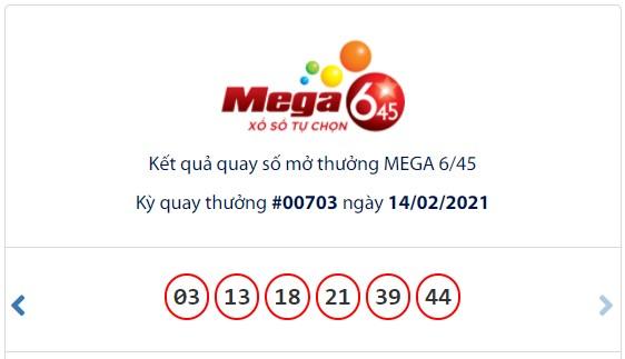 Kết quả Vietlott Mega 6/45 ngày 14/2: Jackpot hơn 18 tỷ đồng tiếp tục hụt chủ - Ảnh 1.