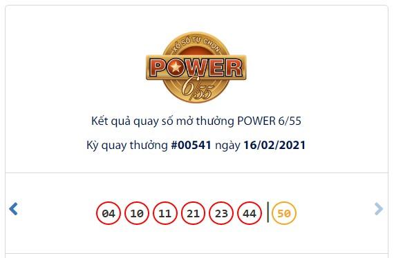 Kết quả Vietlott Power 6/55 ngày 16/2: Hơn 64,6 tỷ đồng Jackpot vẫn chưa có chủ nhân sở hữu - Ảnh 1.