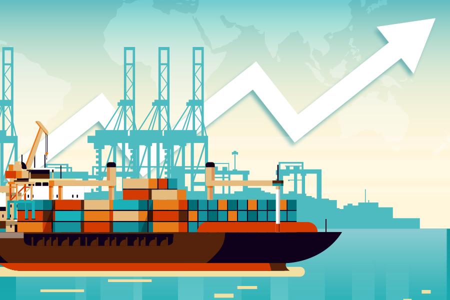 Nhìn lại một năm của các doanh nghiệp cảng biển nhờ lực đẩy kép - Ảnh 1.