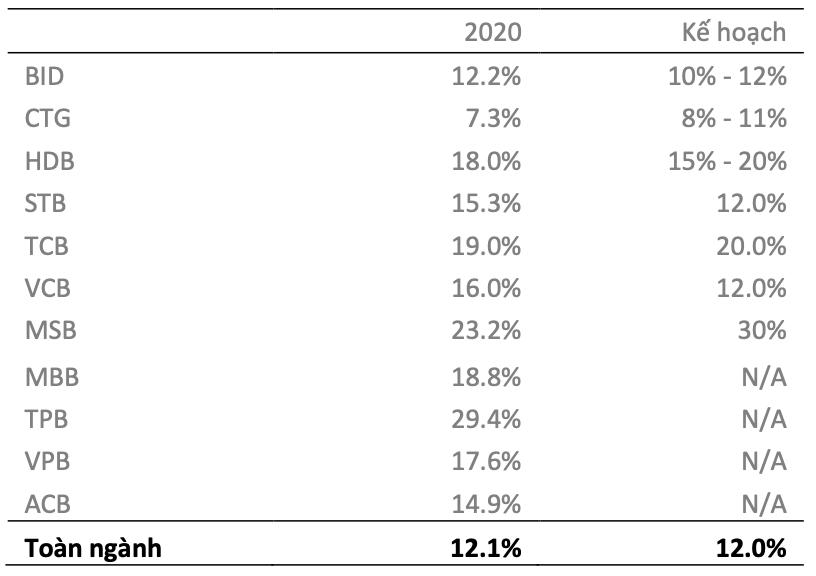 Triển vọng ngân hàng năm 2021: Quy mô mở rộng, tăng trưởng tín dụng toàn ngành ước đạt 14% - Ảnh 2.