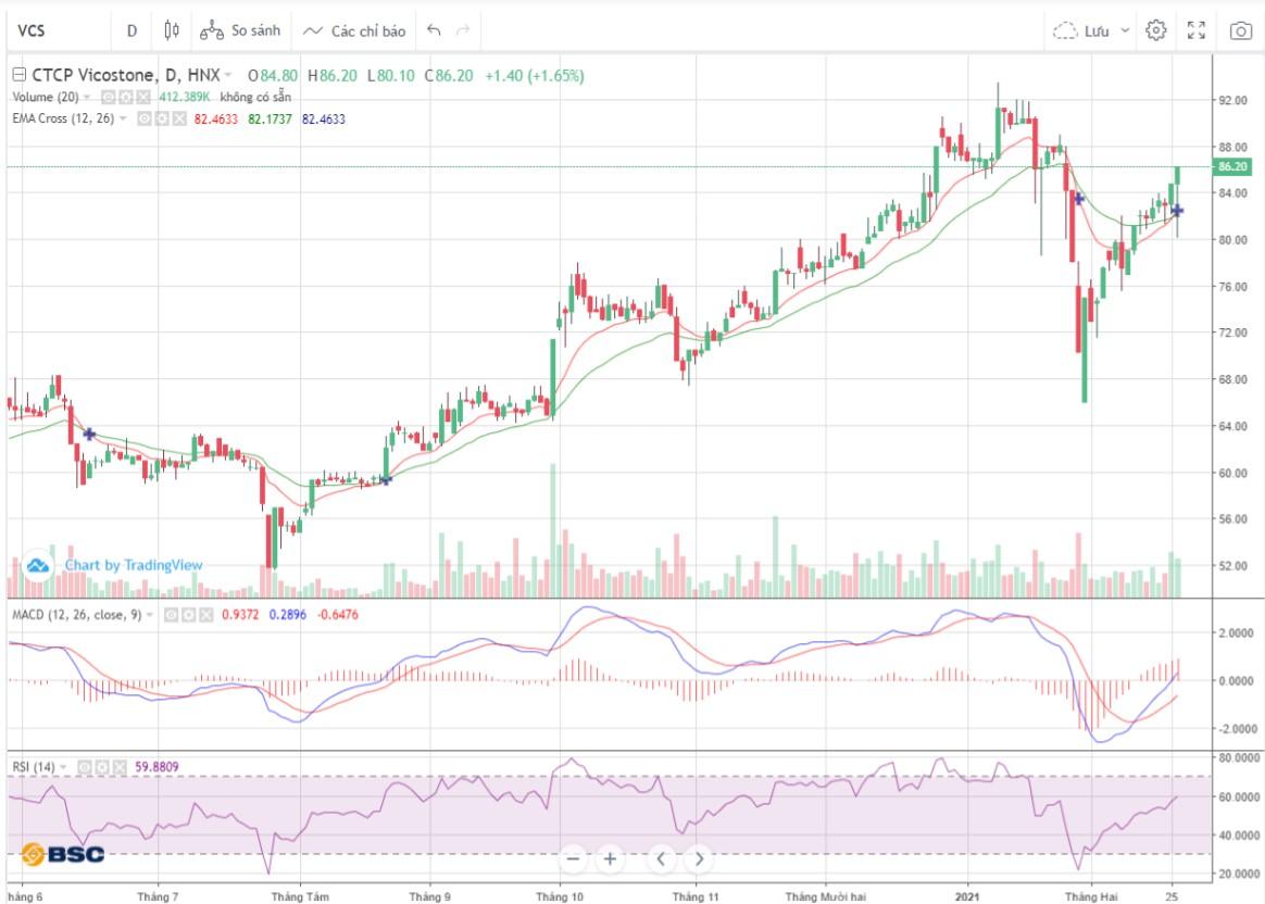 Cổ phiếu tâm điểm ngày 1/3: ACB, VCS, TDC - Ảnh 1.