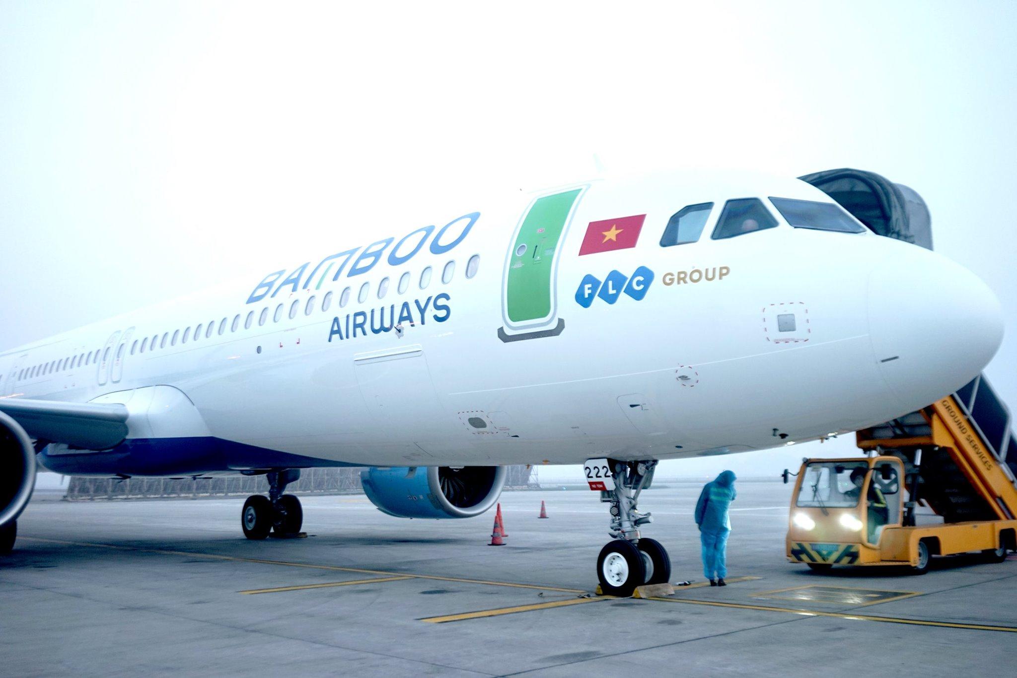Bamboo Airways nhận tàu bay A321Neo ACF đầu tiên - Ảnh 1.