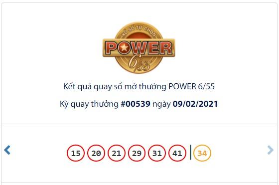 Kết quả Vietlott Power 6/55 ngày 9/2: Jackpot hơn 59,7 tỷ đồng vẫn chưa tìm thấy chủ nhân - Ảnh 1.