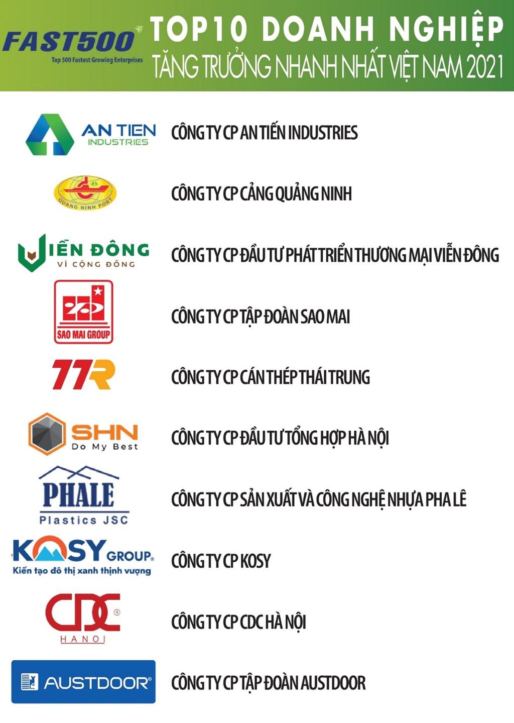 Top 500 doanh nghiệp tăng trưởng nhanh nhất Việt Nam năm 2021 - Ảnh 2.