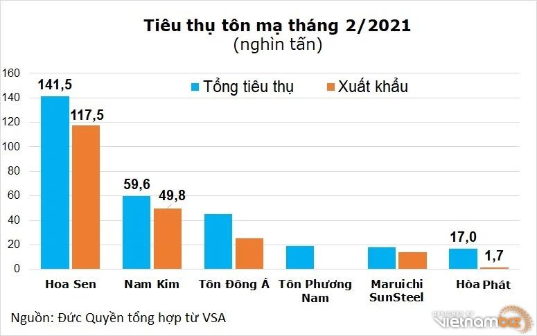 Hoa Sen tăng tốc chiếm 40% thị phần tôn, Hòa Phát vào top 5 - Ảnh 2.
