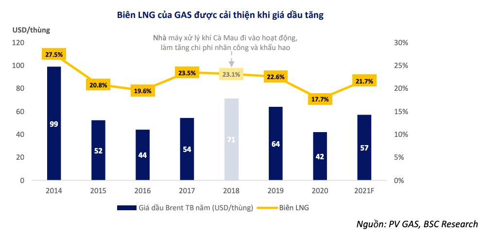 Cứ 10 USD giá dầu tăng kéo biên lợi nhuận gộp của PV GAS tăng bao nhiêu %? - Ảnh 2.