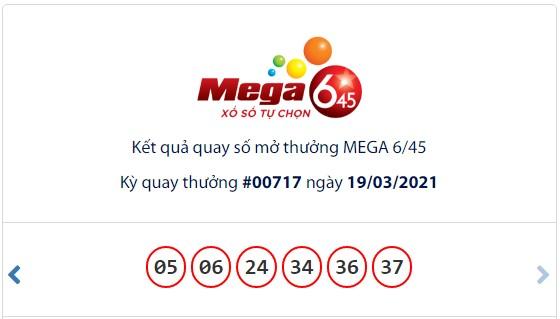 Kết quả Vietlott Mega 6/45 ngày 19/3: Jackpot hơn 16,4 tỷ đồng hụt chủ - Ảnh 1.
