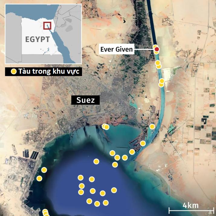Nỗ lực giải cứu siêu tàu gặp khó, kênh đào Suez vẫn kẹt cứng - Ảnh 4.