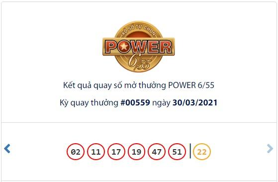 Kết quả Vietlott Power 6/55 ngày 30/3: Jackpot 2 hơn 3,5 tỷ đồng đã tìm thấy chủ nhân may mắn - Ảnh 1.