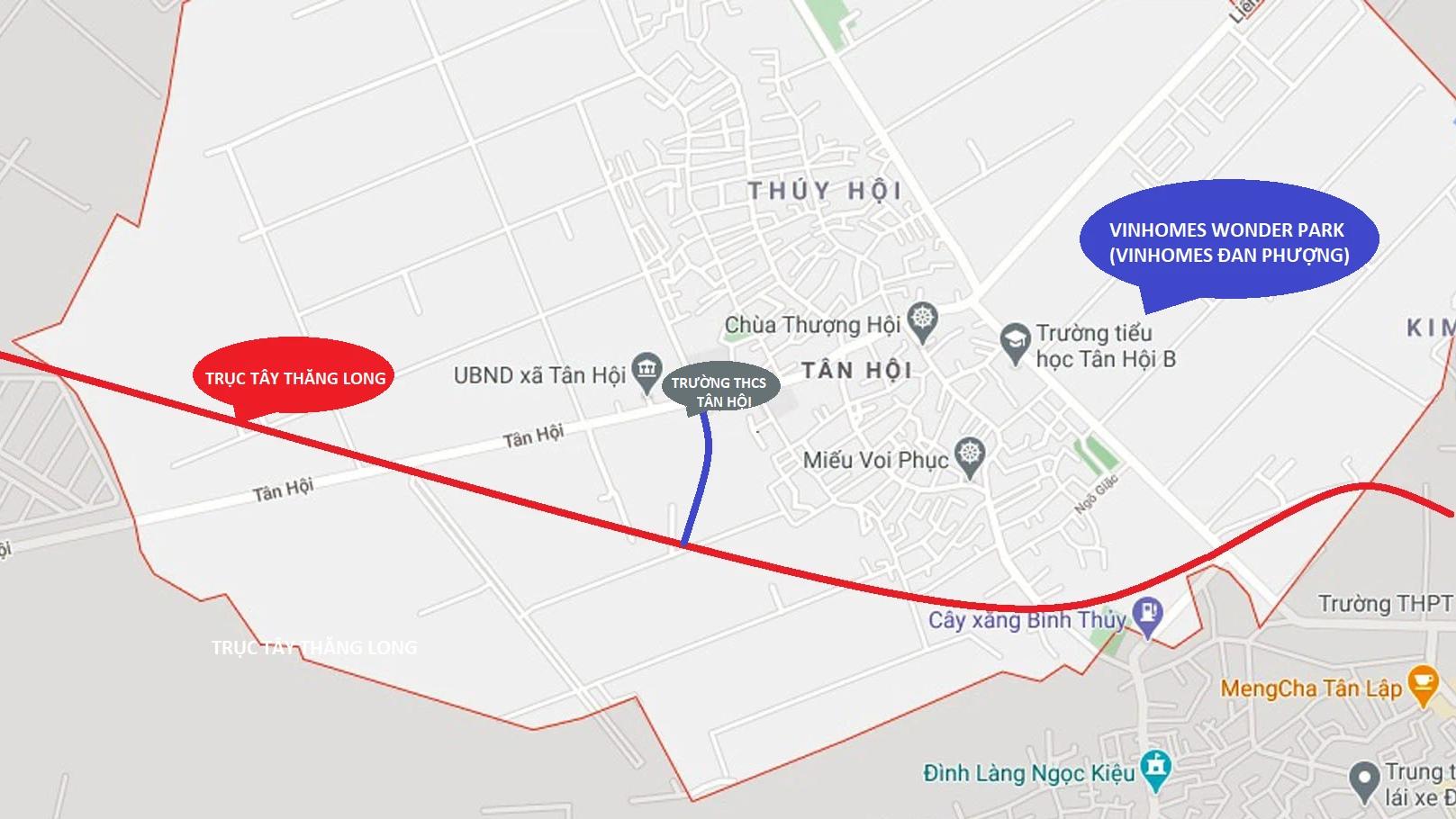 Hà Nội duyệt chỉ giới đường đỏ tuyến đường gần Vinhomes Đan Phượng - Ảnh 1.