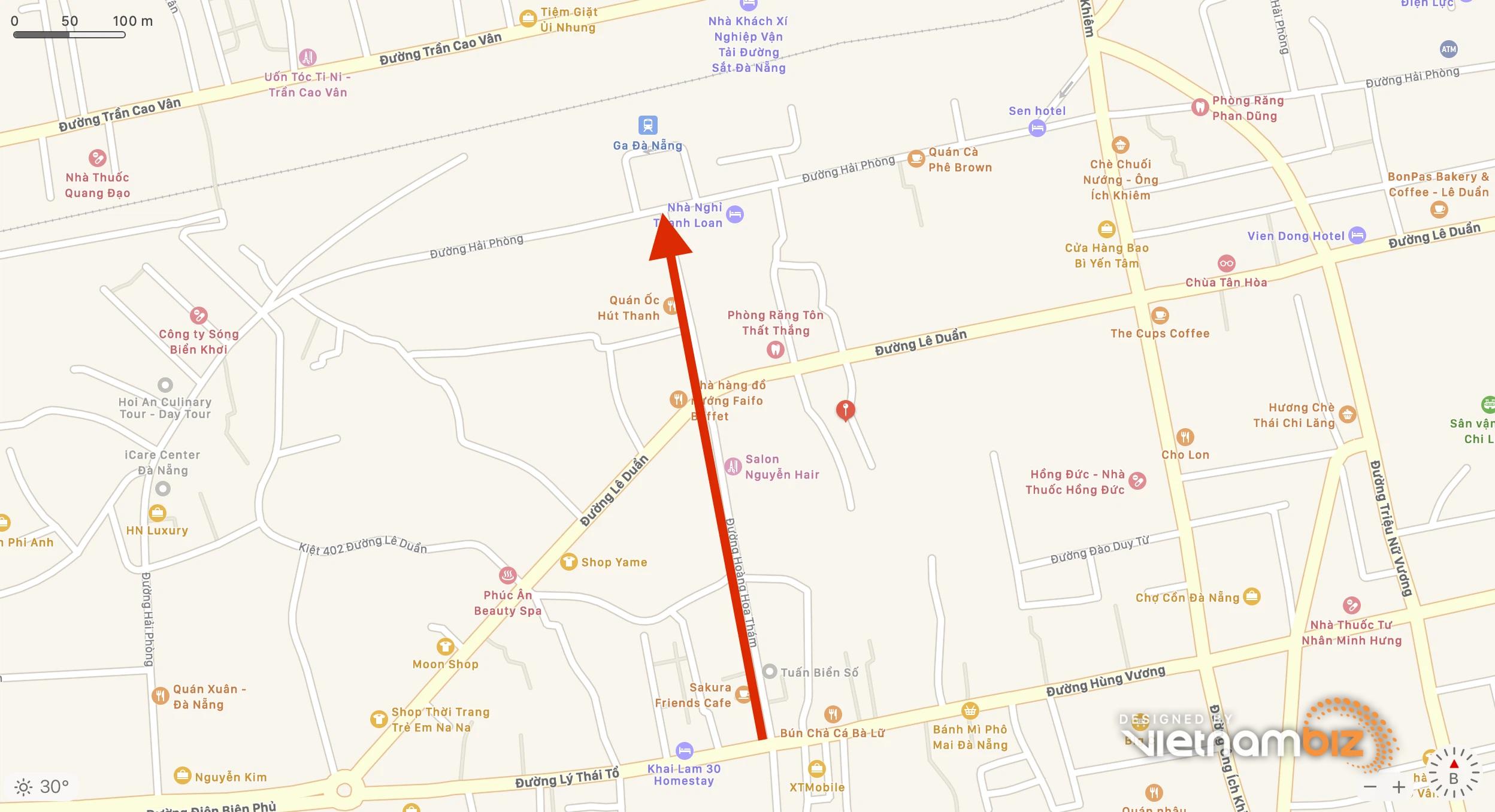 Đà Nẵng quy hoạch mở đường Hoàng Hoa Thám xuyên qua Ga đường sắt đến đường Nguyễn Tất Thành - Ảnh 2.