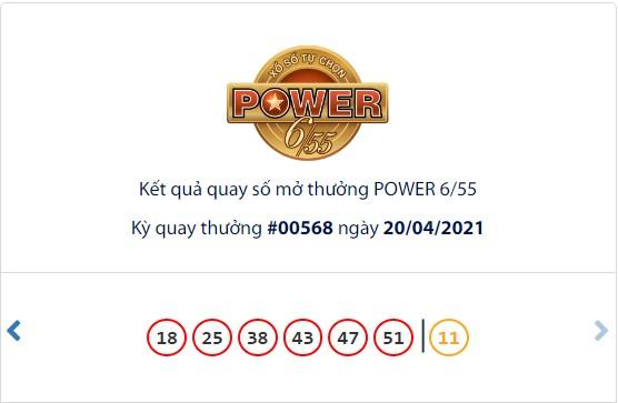 Kết quả Vietlott Power 6/55 ngày 20/4: Jackpot giá trị hơn 43 tỷ đồng chưa tìm thấy chủ - Ảnh 1.