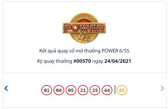 Kết quả Vietlott Power 6/55 ngày 24/4: Jackpot giá trị hơn 46,1 tỷ đồng chưa tìm thấy chủ - Ảnh 1.