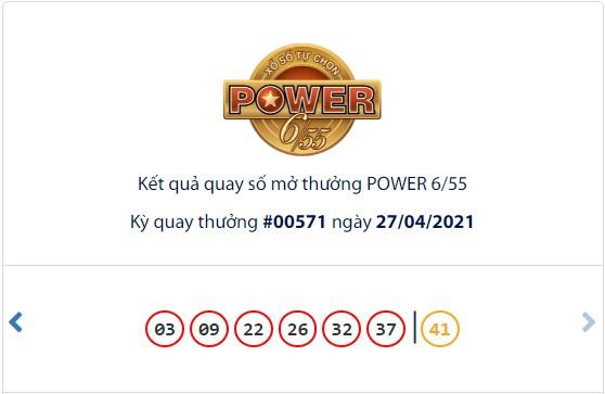 Kết quả Vietlott Power 6/55 ngày 27/4: Jackpot giá trị hơn 48 tỷ đồng tiếp tục đợi chủ - Ảnh 1.