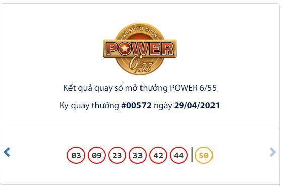 Kết quả Vietlott Power 6/55 ngày 29/4: Jackpot 1 giá trị hơn 49,4 tỷ đồng tìm thấy chủ nhân may mắn - Ảnh 1.