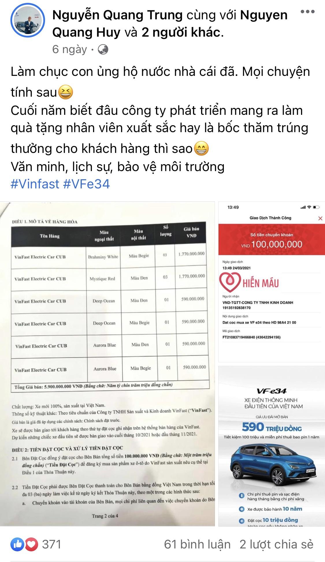 Ai là người đặt mua ô tô điện VinFast VF e34 nhiều nhất đến thời điểm này? - Ảnh 5.