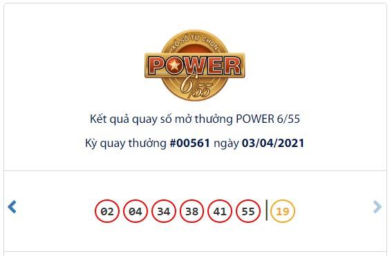 Kết quả Vietlott Power 6/55 ngày 3/4: Jackpot giá trị hơn 141 tỷ đồng đã tìm thấy chủ nhân may mắn - Ảnh 1.