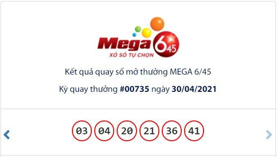 Kết quả Vietlott Mega 6/45 ngày 30/4: Jackpot hơn 42,7 tỷ đồng vắng chủ - Ảnh 1.