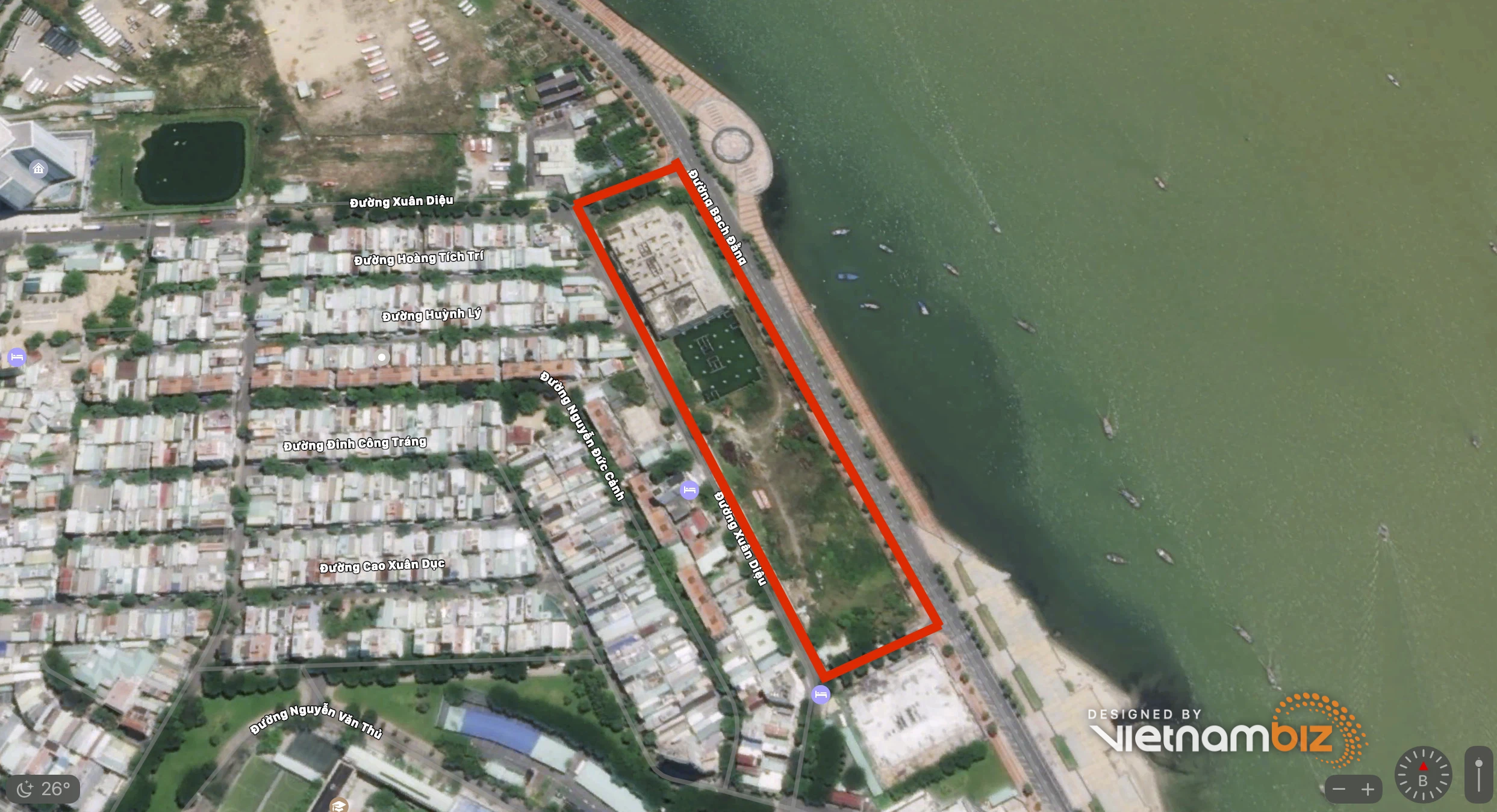 Dự án chung cư cao cấp bỏ hoang trên đất vàng mặt tiền sông Hàn Đà Nẵng - Ảnh 2.