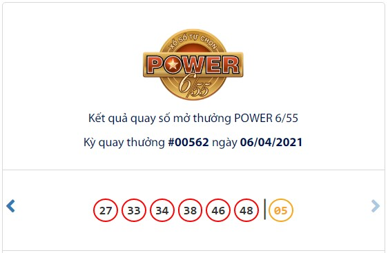 Kết quả Vietlott Power 6/55 ngày 6/4: Jackpot giá trị hơn 32 tỷ đồng chưa tìm thấy chủ nhân mới - Ảnh 1.