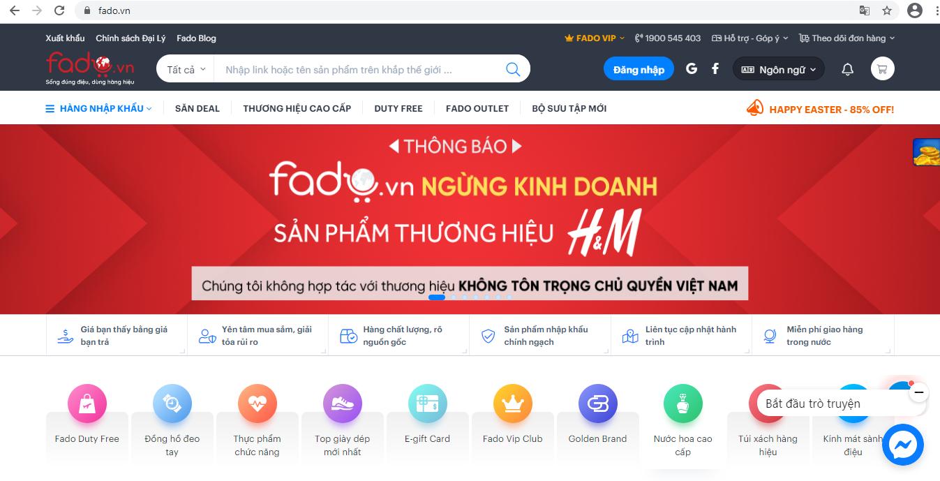 Sàn TMĐT đầu tiên ở Việt Nam ngừng kinh doanh sản phẩm H&M - Ảnh 1.