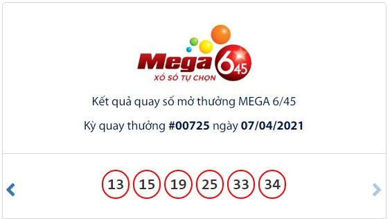 Kết quả Vietlott Mega 6/45 ngày 7/4: Jackpot giá trị hơn 18,1 tỷ đồng hụt chủ - Ảnh 1.