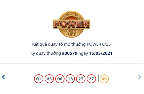 Kết quả Vietlott Power 6/55 ngày 15/5: Jackpot 1 hơn 41,2 tỷ đồng chưa tìm thấy chủ - Ảnh 1.