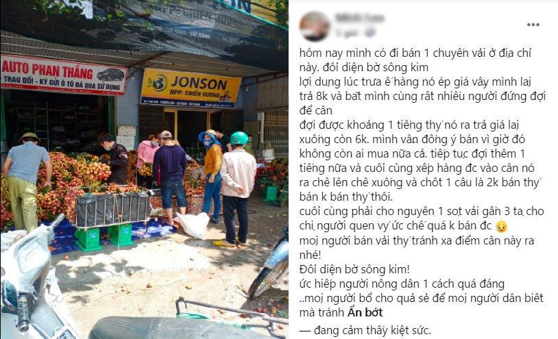 Thực hư chuyện vải thiều Bắc Giang bị ép giá xuống 2.000 đồng/kg - Ảnh 1.