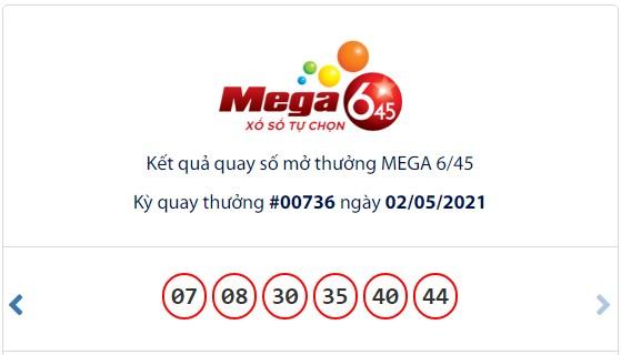 Kết quả Vietlott Mega 6/45 ngày 2/5: Jackpot gần 47,2 tỷ đồng vẫn chưa có chủ - Ảnh 1.