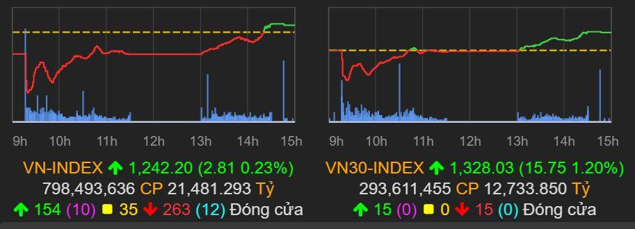 VN-Index đảo chiều ngoạn mục, TCB và HPG phá đỉnh lịch sử - Ảnh 1.