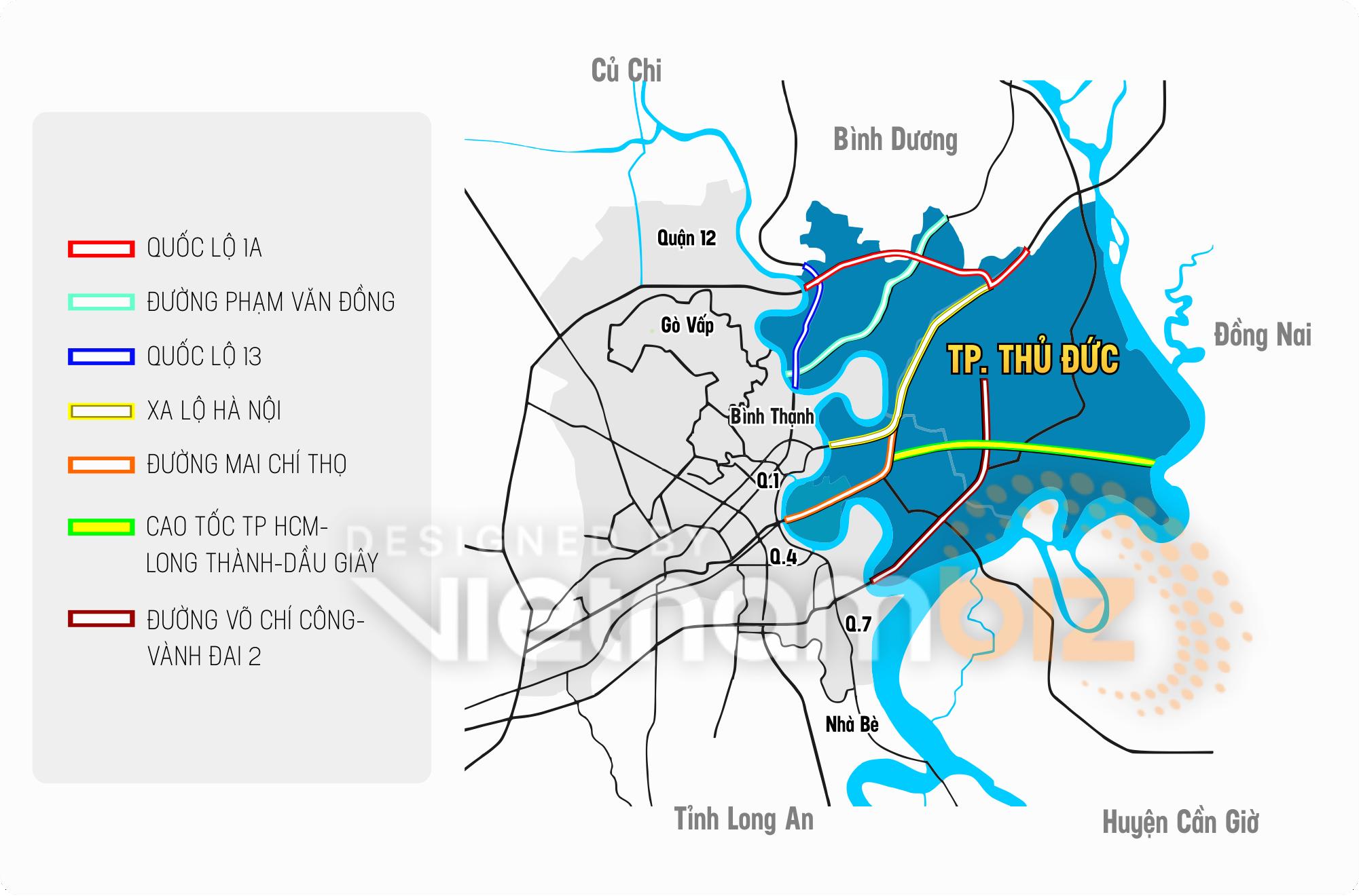 Nhìn lại những tuyến giao thông trọng điểm của TP Thủ Đức - Ảnh 1.