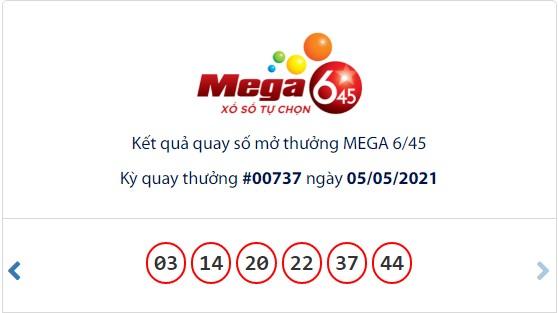 Kết quả Vietlott Mega 6/45 ngày 5/5: Jackpot gần 52,3 tỷ đồng vô chủ - Ảnh 1.