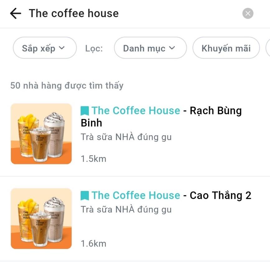Thực hư chuyện The Coffee House lần đầu xuất hiện trên một app giao hàng - Ảnh 1.