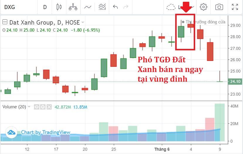 Phó TGĐ Tập đoàn Đất Xanh bán cổ phiếu DXG ngay vùng đỉnh, trước hai phiên giảm sàn - Ảnh 1.