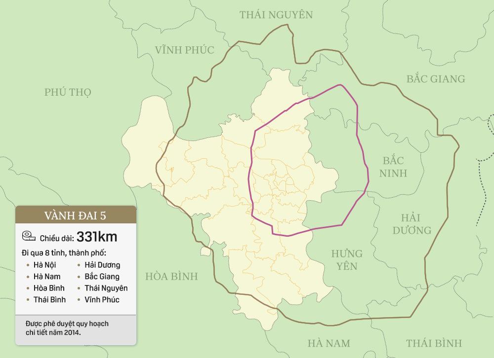 Toàn cảnh 7 tuyến đường vành đai của Hà Nội - Ảnh 8.