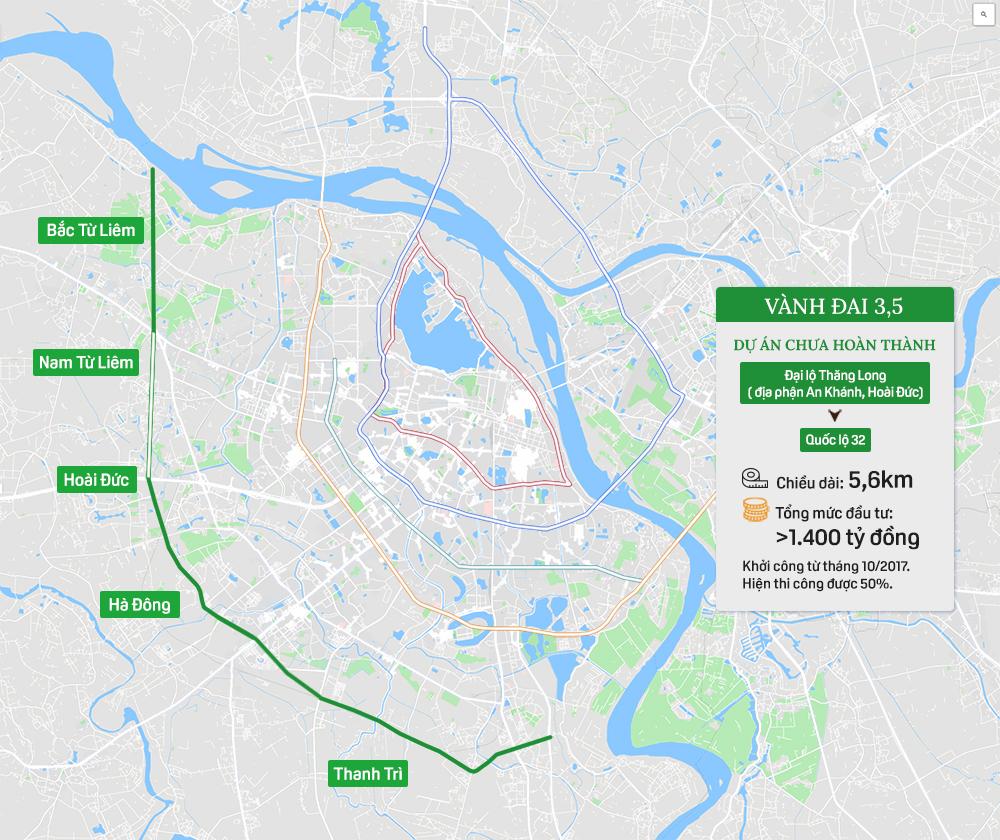 Hệ thống 7 đường vành đai của Hà Nội: Hai tuyến chưa hình thành, 5 tuyến còn lại tổng mức đầu tư gần 150.000 tỷ - Ảnh 6.