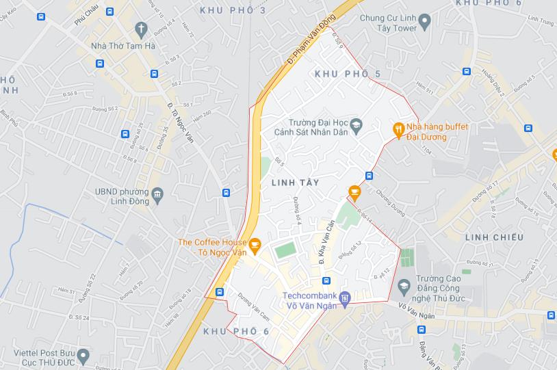 Ba khu đất dính quy hoạch tại phường Linh Tây, TP Thủ Đức - Ảnh 1.