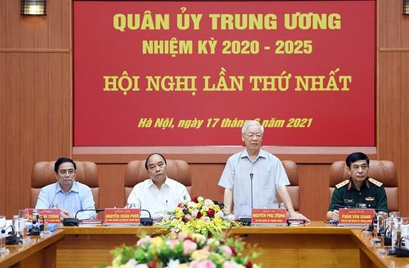 Ba lãnh đạo chủ chốt của Đảng, Nhà nước tham gia Thường vụ Quân ủy Trung ương - Ảnh 1.