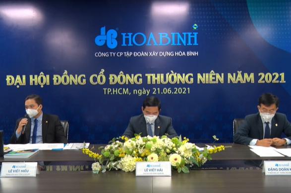 ĐHĐCĐ Hòa Bình: Dự thu 1.000 tỷ từ thoái 4 dự án lớn, FLC mới trả được 20 tỷ đồng trong vụ kiện