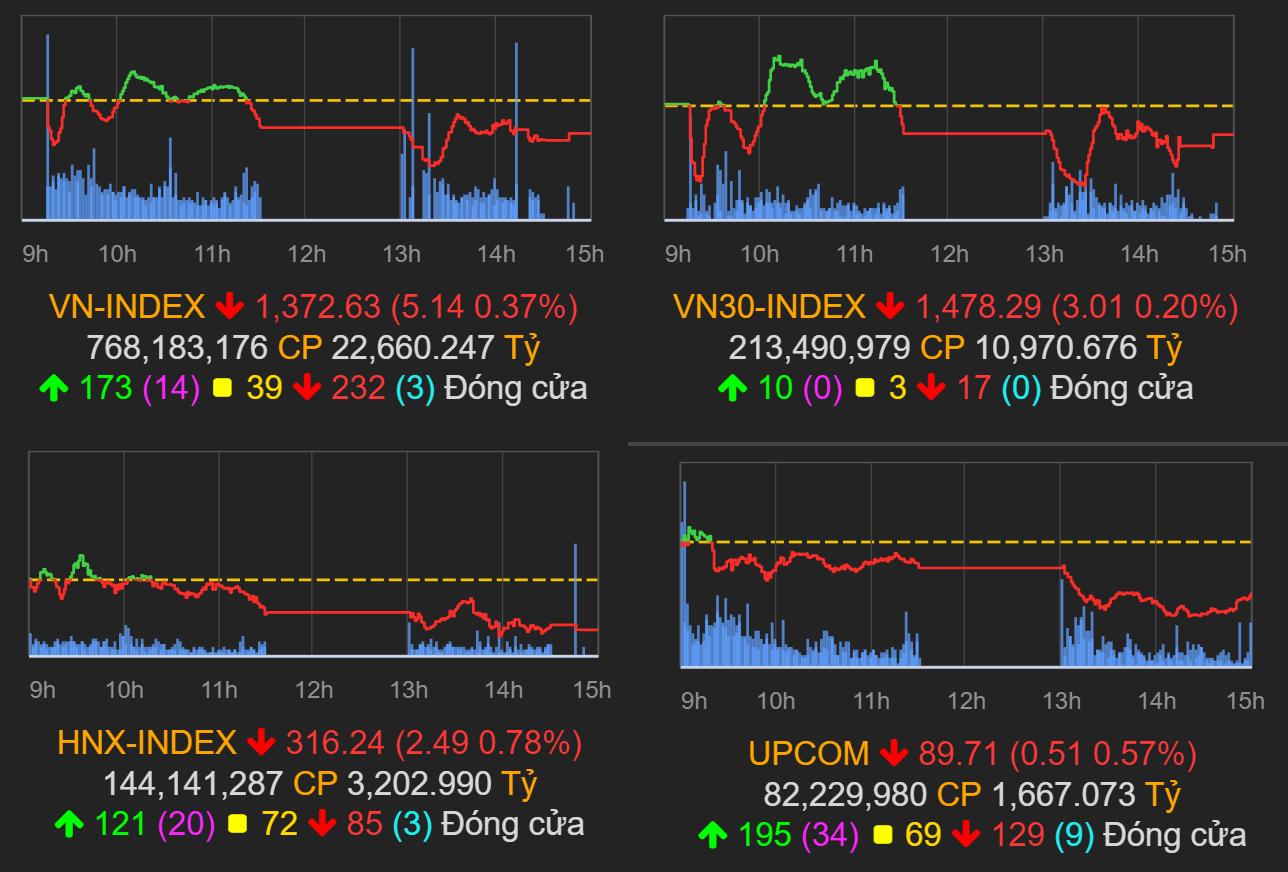 Thị trường chứng khoán (21/6): Thiếu dòng dẫn dắt, VN-Index mất hơn 5 điểm - Ảnh 1.