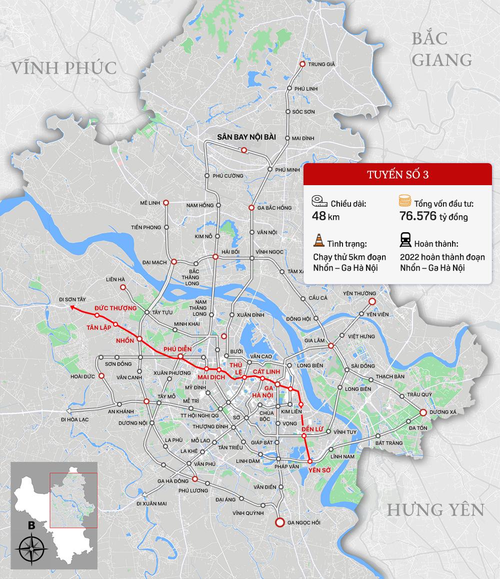 Bức tranh đường sắt đô thị Thủ đô Hà Nội - Ảnh 4.