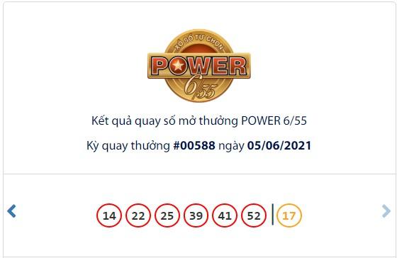 Kết quả Vietlott Power 6/55 ngày 5/6: Jackpot 2 hơn 3,1 tỷ đồng tìm thấy chủ nhân mới - Ảnh 1.