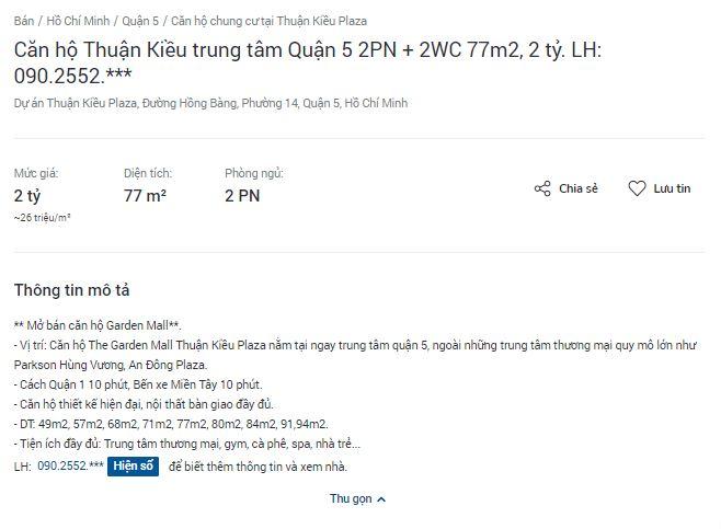 Giá căn hộ tại Thuận Kiều Plaza là bao nhiêu? - Ảnh 2.