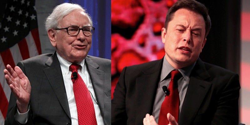 Elon Musk: Tôi không phải là 'fan hâm mộ' của Warren Buffett  - Ảnh 1.