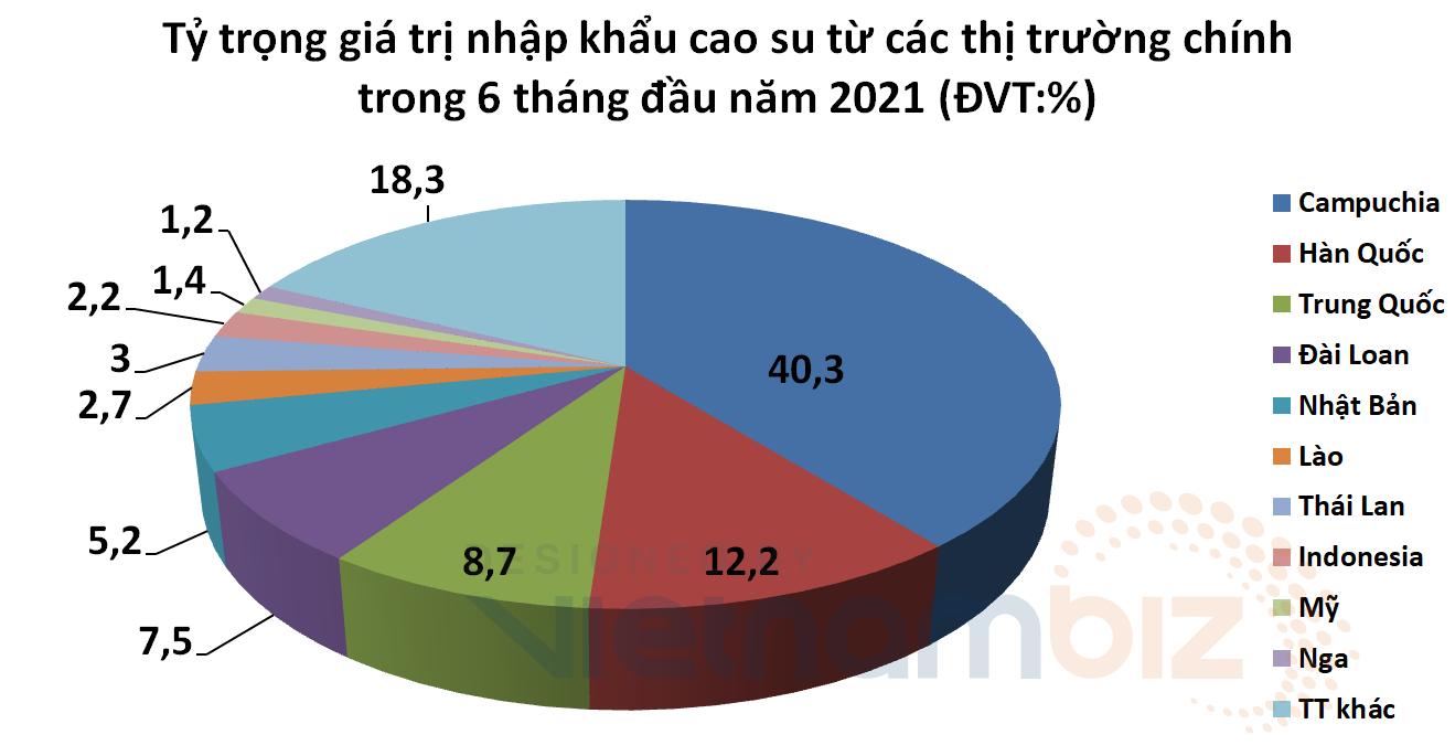 Xuất khẩu tăng vọt nhưng Việt Nam lại nhập siêu 100 triệu USD cao su trong nửa đầu năm  - Ảnh 2.