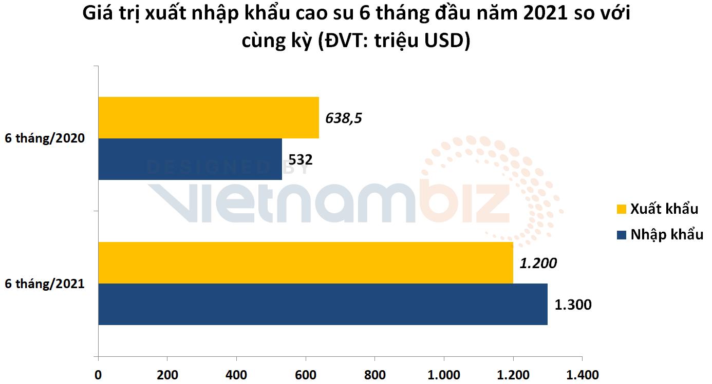 Xuất khẩu tăng vọt nhưng Việt Nam lại nhập siêu 100 triệu USD cao su trong nửa đầu năm  - Ảnh 1.