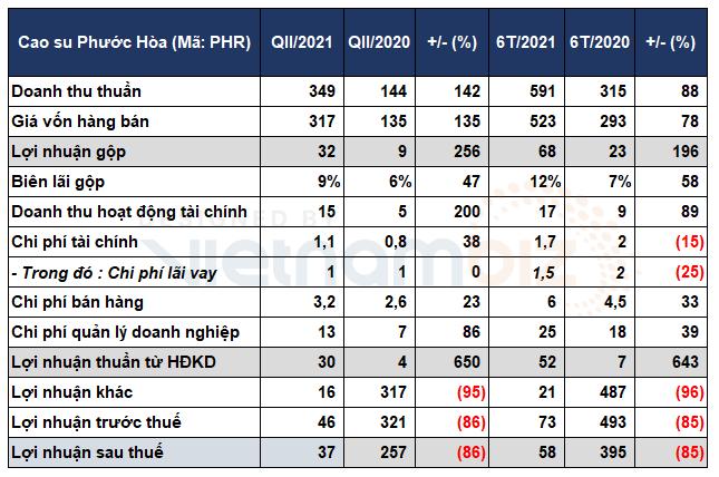 Lợi nhuận 6 tháng của Cao su Phước Hòa giảm 85% do hụt thu đền bù đất từ KCN Nam Tân Uyên - Ảnh 1.