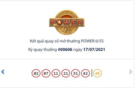 Kết quả Vietlott Power 6/55 ngày 17/7: Vẫn chưa tìm thấy chủ nhân cho giải thưởng lớn giá trị hơn 37,2 tỷ đồng - Ảnh 1.