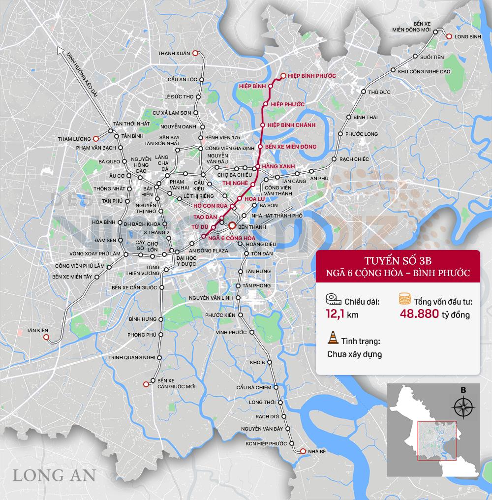 8 tuyến đường sắt đô thị của TP HCM: Metro số 1 chạy thương mại năm 2022, Metro số 2 GPMB xong trong năm nay - Ảnh 9.