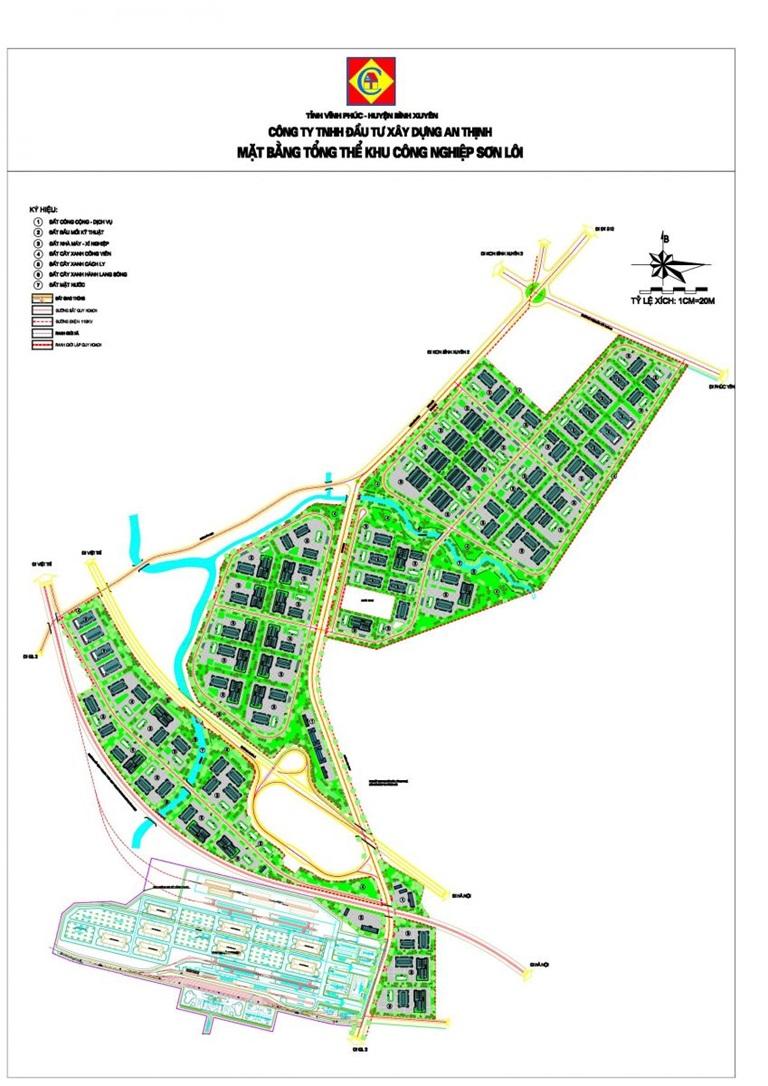 Vĩnh Phúc duyệt quy hoạch KCN Sơn Lôi hơn 276 ha - Ảnh 1.